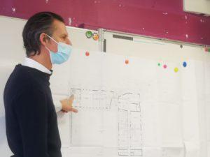Ecole Intercommunale: visite de l'architecte