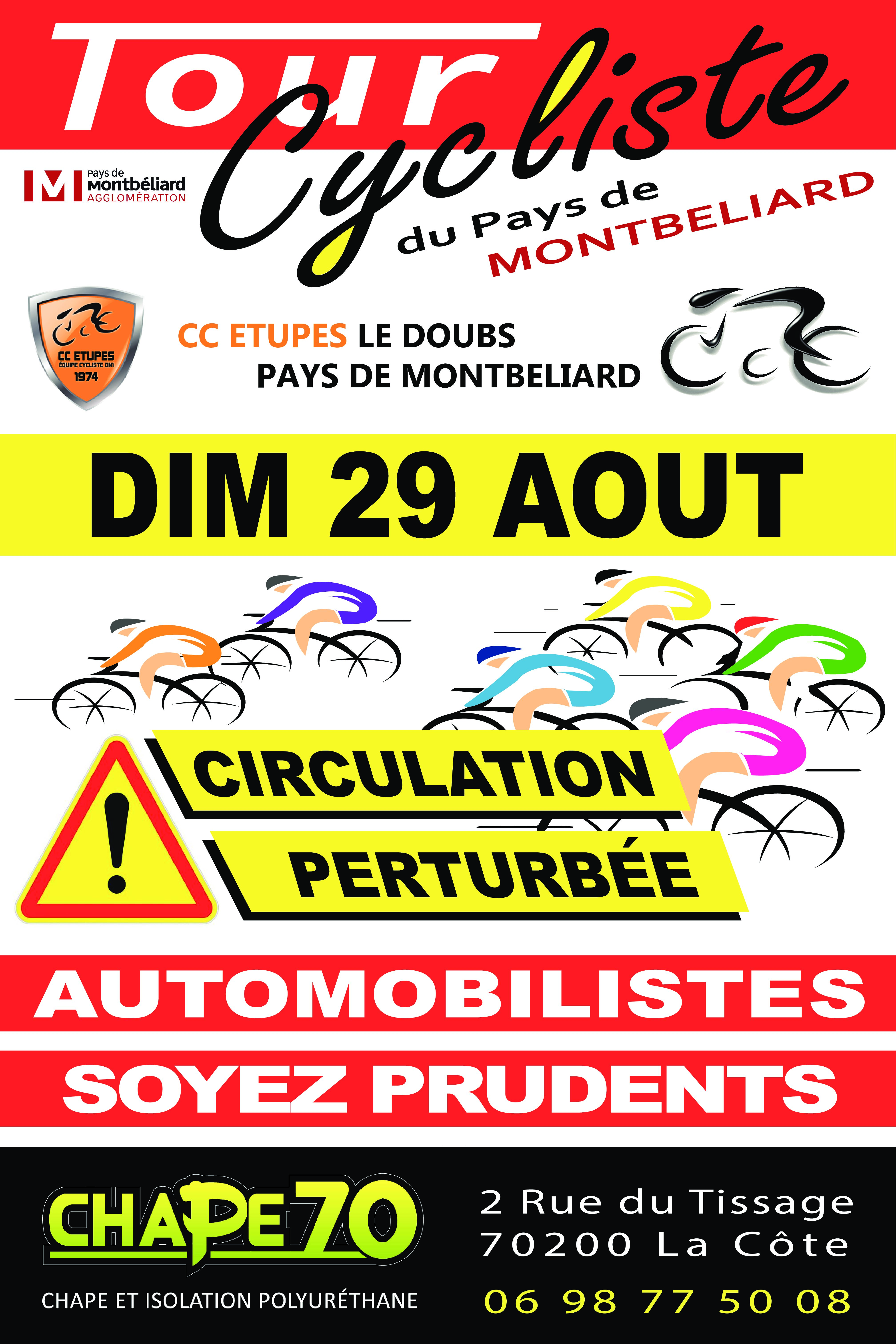 Grand Prix Cycliste PMA , le dimanche 29 août dans notre commune